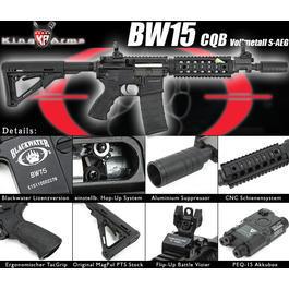 Sportwaffen - King Arms Blackwater BW15 CQB Vollmetall S-AEG 6mm BB