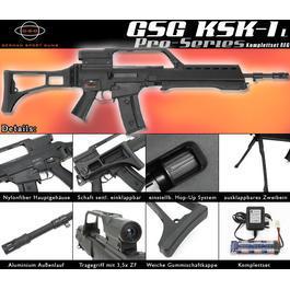 Softair AEG - GSG KSK-1 L Pro Series Softair Komplettset AEG