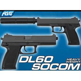 Sportwaffen - ASG DL60 Socom HW inkl. Schalldämpfer Springer 6mm BB
