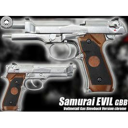 Socom Gear Samurai Evil Vollmetall GBB chrome 6mm BB