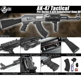 Softair Gewehr - Jing Gong AK-47 Tactical Pro-Series Komplettset S-AEG 6mm BB