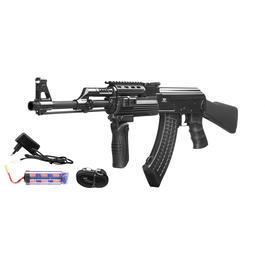 US Shop - Jing Gong AK47 Tactical mit festem Schaft Komplettset S-AEG 6mm BB schwarz