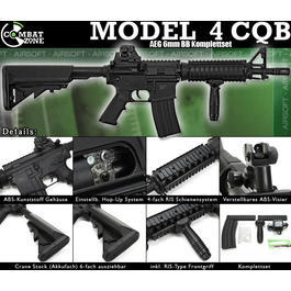 Combat Zone Mod. 4 CQB Softair Komplettset AEG 6mm BB