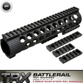Airsoft - MadBull / Troy M4 TRX Extreme Battlerail 9 Zoll schwarz