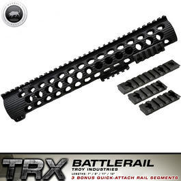 Softair-Waffen - MadBull / Troy M16 TRX Extreme Battlerail 13 Zoll schwarz