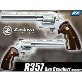 CO2 Zubehör - ASG Zastava R357 Gas Revolver chrome 6mm BB
