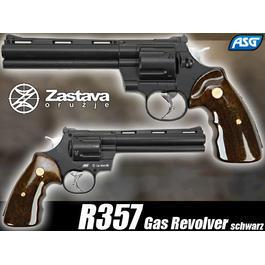 Luftdruckwaffen - ASG Zastava R357 Gas Revolver schwarz 6mm BB