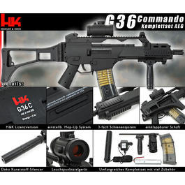 Heckler & Koch G36 Commando Komplettset AEG 6mm BB