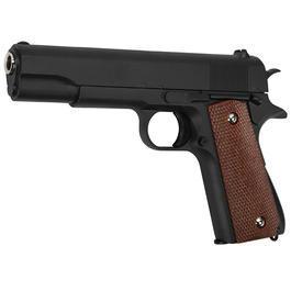 Softair ab 14 - Galaxy M1911 A1 Vollmetall Springer 6mm BB schwarz