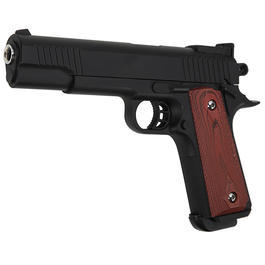 Galaxy M1911 Combat Groove Vollmetall Springer 6mm BB schwarz