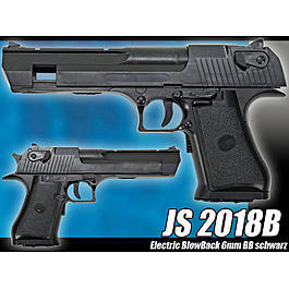JS 2018B Pistole Electric BlowBack 6mm BB schwarz