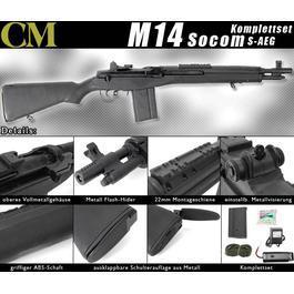 Softair Gewehr - CM M14 Socom Vollmetall Komplettset S-AEG 6mm BB