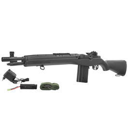 Softair Gewehr - CM M14 Socom Vollmetall Komplettset S-AEG 6mm BB schwarz