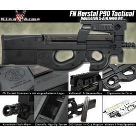 King Arms FN Herstal P90 Tactical Ultra Grade S-AEG 6mm BB