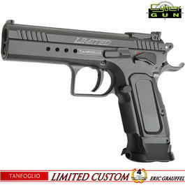 Softair Verkauf - Cybergun Tanfoglio Limited Custom Racegun Vollmetall CO2 BlowBack 6mm BB grau