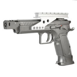 Gaswaffen - Cybergun Tanfoglio Gold Custom Racegun Vollmetall CO2 BlowBack 6mm BB grau