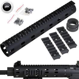 Sportwaffen - MadBull / Daniel Defense M4 Aluminium CNC MFR RAS-System 12 Zoll schwarz