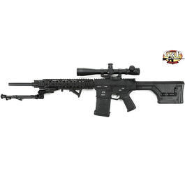 G&P SR-25 MagPul PTS Sniper Vollmetall S-AEG 6mm BB Softair schwarz