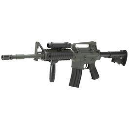 Softair Verkauf - DBoys M4A1 RIS Softair Komplettset AEG 6mm BB grau / schwarz