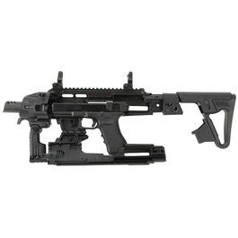 CAA Airsoft Division RONI Carbine Conversion Kit f. TM / KSC / WE G17 / G18C / G18 / G23F schwarz