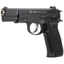 Softair Gun - KJ Works CZ 75 Vollmetall GBB 6mm BB schwarz