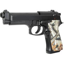 Softair ab 14 - HFC M92F Springer 6mm BB schwarz mit Camo-Griffschalen