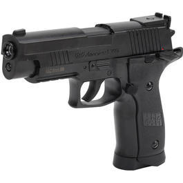 Softair Gun - G&G G226 Springer 6mm BB schwarz - Shooter Action Set