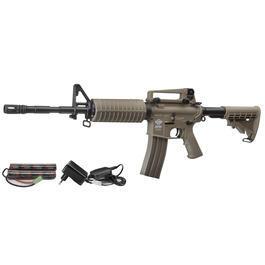 Softair Gewehr - Combat Machine CM16A1 Carbine Komplettset AEG 6mm BB Desert Tan
