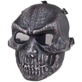 US Shop - GSG Dekomaske Totenkopf schwarz silber
