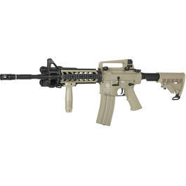 ICS M4A1 RIS Carbine Vollmetall S-AEG 6mm BB US-Tan