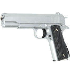 Softairwaffe - Galaxy G13 M1911 A1 Vollmetall Springer 6mm BB silber