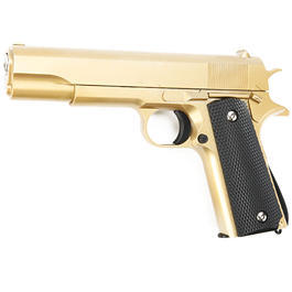 Airsoft - Galaxy G13 M1911 A1 Vollmetall Springer 6mm BB gold