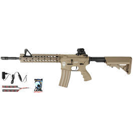 G&G GR15 RIS Raider XL BlowBack Komplettset AEG 6mm BB Desert Tan