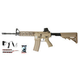 G&G GR15 RIS Raider L BlowBack Komplettset AEG 6mm BB Desert Tan