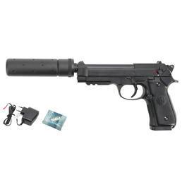 Softair kaufen - Umarex Beretta M92 A1 Tactical Metallschlitten Komplettset AEP 6mm BB schwarz