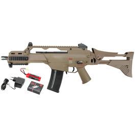 Softair Gun - Heckler & Koch G36C IDZ DualPower Komplettset AEG / Springer 6mm BB FDE