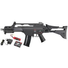Softair Gewehr - Heckler & Koch G36C IDZ DualPower Komplettset AEG / Springer 6mm BB schwarz