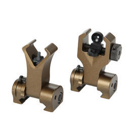 G&G Flip-Up Battle Sight Set Front / Rear für 21mm Schienen Desert Tan