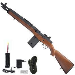 Softair AEG - CM M14 Socom Vollmetall Komplettset S-AEG 6mm BB Wood-Type