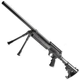 Sniper Softair - Well SR-2 Target-Snipergewehr inkl. Zweibein Springer 6mm BB schwarz