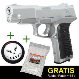 UHC KP85 Heavy Weight Springer silver + GRATIS Zubeh�r