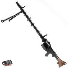 Airsoft-Waffe - RWA MG34 Vollmetall Echtholz AEG 6mm BB schwarz