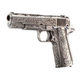 Wei-ETech M1911 Etched Version Mehico Druglord Vollmetall GBB 6mm BB Satin-Chrome