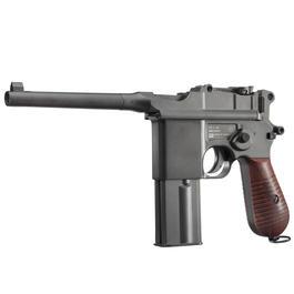 Blowback - KWC M712 Broomhandle Pistol Vollmetall CO2 BlowBack 6mm BB schwarz