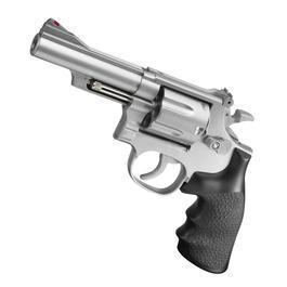 Softair ab 14 - UHC M-19 4 Zoll Revolver mit Hülsen Springer 6mm BB silber / schwarz