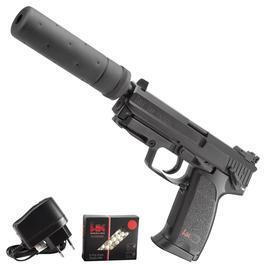 freie Waffen - Umarex Heckler & Koch USP Tactical Metallschlitten Komplettset AEP 6mm BB schwarz