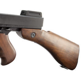King Arms Thompson M1928 Chicago Vollmetall Echtholz Blowback S-AEG 6mm BB