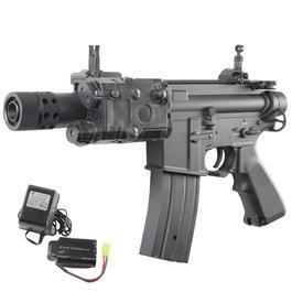 Classic Army - Jing Gong M4 Baby CQB Vollmetall Komplettset S-AEG 6mm BB schwarz