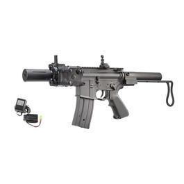 Softair Gewehr - Jing Gong M4 Baby CQB mit M241 Schaft Vollmetall Komplettset S-AEG 6mm BB schwarz
