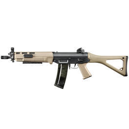 ICS 551 Swat Vollmetall S-AEG 6mm BB Dark Earth Tan Softair